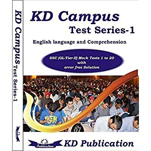 Paramount Test Series of English Language & Comprehension for SSC CGL (Tier-II) Mock Tests 1 to 20 (Paramount Maths for General Competitions Edition 2014)