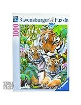 Ravensburger Puzzles Tiger Family, Multi Color (1000 Pieces)