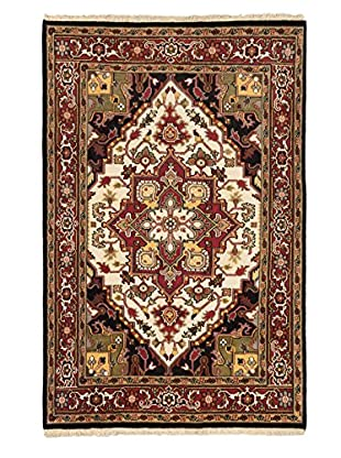 Hand-Knotted Royal Heriz Wool Rug, Cream, 5' 11