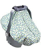Summer Infant 2-in-1 Carry and Cover Infant Car Seat Cover, White Dots