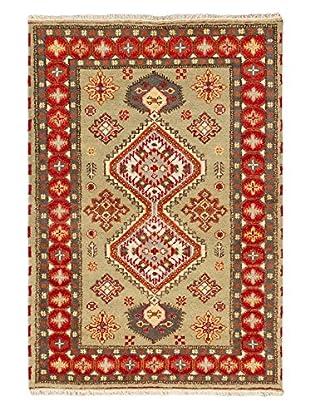 Hand-Knotted Royal Kazak Rug, Khaki, 4' 2