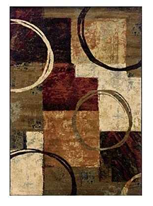 Granville Rugs Potomac Rug (Tan//Brown/Black/Blue/Red)