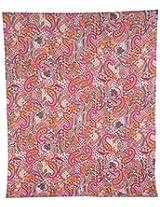 Vintage Art India Cotton Double Bedspread - Paisley, Multi-Colour