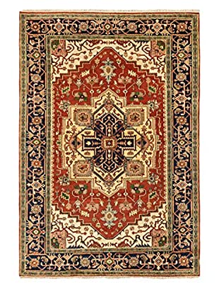 Hand-Knotted Serapi Heritage Wool Rug, Dark Copper, 6' 1