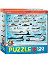 Airplanes 100 Piece Jigsaw Puzzle By Eurographics Toys