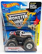 Hot Wheels Monster Jam 1:64 Monster Mutt Dalmatian Mud Treads Battler Slammer Truck - New 2015 #29