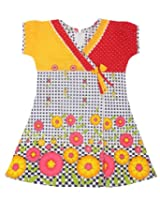 Saps - Short Sleeves Frock With Checks