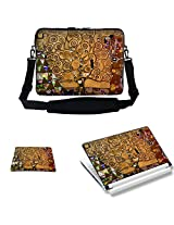Meffort Inc 17 17.3 Inch Laptop Carrying Sleeve Bag Case- Klimt Tree of Life