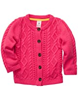 Carter's Baby Girls Mini Blues Sweater Knit Cardigan (3M-24M) (6 Months, Pink)