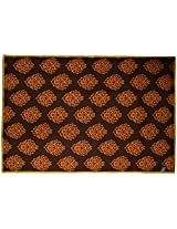 Agra Dari Woolen Carpet - 60'' x 84'' x 0.4'', Black