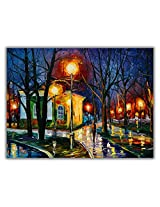TIA Creation Night View Love Canvas 0298 Print on Cotton Canvas 31inch x 22inch