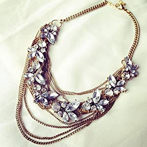 No Strings Attached Swaroski Crystal Eve Bib Statement Necklace