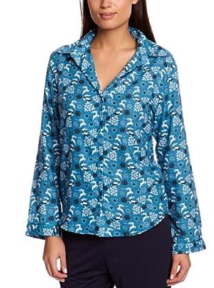 Cyberjammies Camisa De Pijama Monets Storm (Turquesa / Azul)