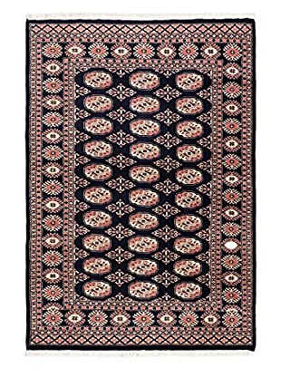 eCarpet Gallery One-of-a-Kind Hand-Knotted Peshawar Bokhara Rug, Navy, 4' 2