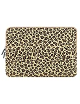 PLEMO Leopard's Spots Canvas Fabric 12-12.5 Inch Netbook / Laptop / Notebook Computer Sleeve Case Bag Cover Yellow