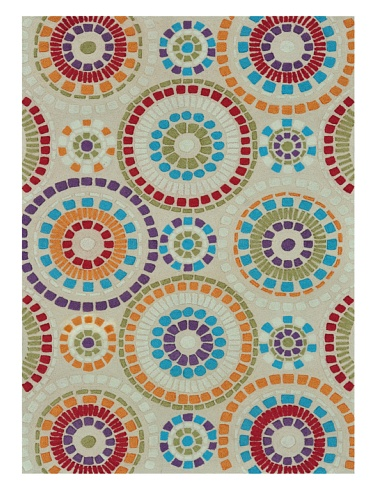 Loloi Rugs Aurora Collection Rug (Ivory Circles)