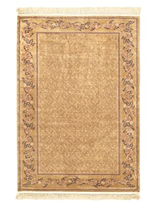 Persian Traditional Rug, Beige, 4' 7
