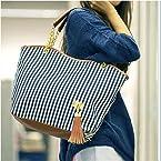 Blueline Street Snap Tote Bag