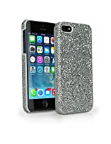 BoxWave Glamour Glitz iPhone 5s / 5 Case - Pretty, Sparkly Glitter Case, Colorful Girly Sparkle Cover for Your Apple iPhone 5s / 5 - Apple iPhone 5s / 5 Cases and Covers (Silver Sparkles)