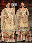 Bollywood Replica Gauhar Khan Net Lehenga In Cream Colour NC698