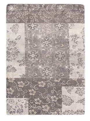 Eternity Gabbeh Modern Silk Rug, Grey, 5' 4