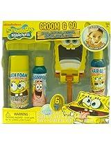 Nickelodeon Spongebob Boys Groom & Go Gift Set - Includes Mirror Play Razor Bath Foam Shampoo Hair Gel & Comb