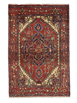 Rug Republic One Of A Kind Indo-Serapi Hand Knotted Rug, Antique Red/Multi, 4' x 6'