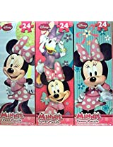 Minnie Tower Puzzle, 24 Pieces Assorted (Pack Of 3)