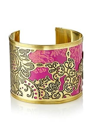 Desigual Women's Pink Cuff Bracelet
