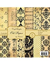 CrafTangles Scrapbook & Craft paper pack - Old Paper (12 by 12 Patterned Paper)