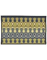 """Agra Dari Woolen Door Mat - 7"""" x 9"""" x 0.39"""", Grey"""