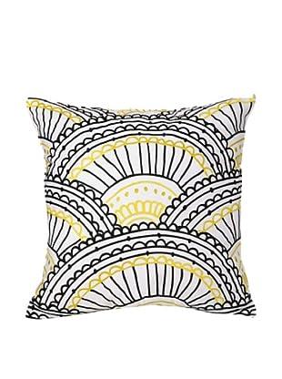 Trina Turk Zebra Stripe Decorative Square Pillow, Black/Yellow