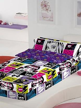Euromoda Saco Nórdico con Relleno Monster High Chispas (Multicolor)