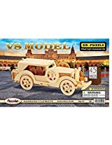 3-D Wooden Puzzle - Car Model V8 -Affordable Gift For Your Little One Item Dchi-Wpz-P014