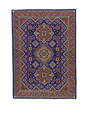 L'Eden del Tappeto Teppich Azerbaijan dunkelblau/braun 213t x t148 cm