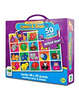 The Learning Journey Jumbo Floor Puzzles, Colors and Shapes