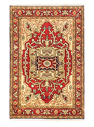 Hand-Knotted Serapi Heritage Wool Rug, Dark Copper, 3' 11
