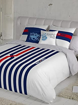 Beverly Hills Polo Club Juego De Funda Nórdica Orlando (Azul / Blanco / Rojo)