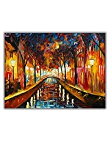 TIA Creation Mirror View River Canvas 0299 Print on Cotton Canvas 31inch x 22inch