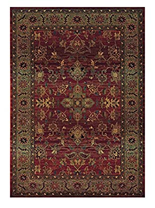 Granville Rugs Destiny Rug (Red/Green)
