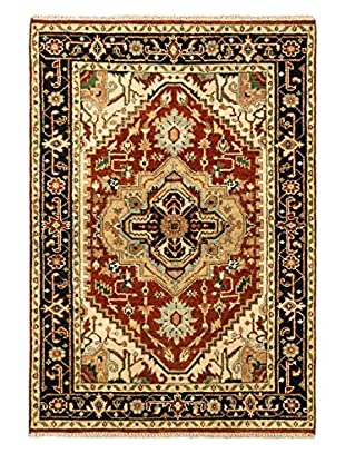 eCarpet Gallery One-of-a-Kind Hand-Knotted Serapi Heritage Rug, Dark Copper, 4' 2