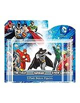 "Dc Comics Batman/Flash/Green Lantern (3 Figurine Pack Set) 4"" Pvc Deluxe Figures (With Gift Box)"