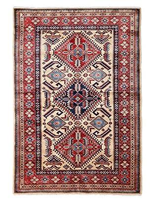 Darya Rugs Fine Kazak Oriental Rug, Red, 4' 1