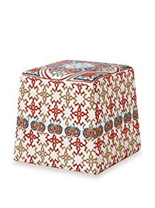 Jamie Young Ginger Ottoman (White/Multi)