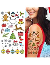 Supperb Temporary Tattoos Happy Holiday Merry Christmas Temporary Tattoo