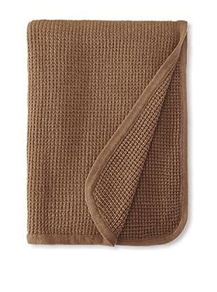 pür cashmere Thermal Knit Throw, Heather Mocha, 50