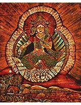 Exotic India Goddess Lakshmi - Batik Painting On Cotton