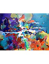 Faim Paintings Abstract Art Cascading Dreams Canvas Print 30x22 Frameless