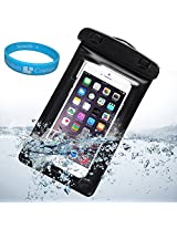 Sumaccn Underwater Waterproof Case Bag Pouch With Removable Armband For iPhone 6 / Motorola Moto X - 2nd Generation / Motorola DROID Turbo / Sony Xperia Z3v + SumacLife TM Wisdom Courage (Black)