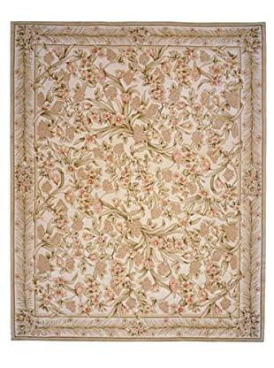 French Accents Bahama Aubusson (Ivory/Pink/Multi)